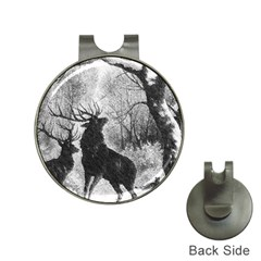 Stag Deer Forest Winter Christmas Hat Clips With Golf Markers