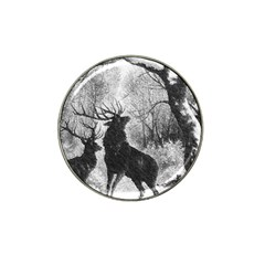 Stag Deer Forest Winter Christmas Hat Clip Ball Marker (4 Pack)