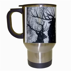 Stag Deer Forest Winter Christmas Travel Mugs (white)