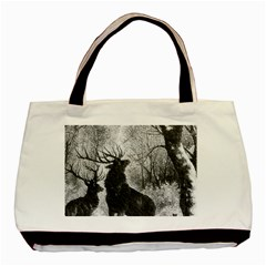 Stag Deer Forest Winter Christmas Basic Tote Bag