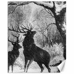 Stag Deer Forest Winter Christmas Canvas 16  x 20