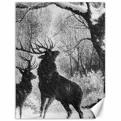 Stag Deer Forest Winter Christmas Canvas 18  x 24