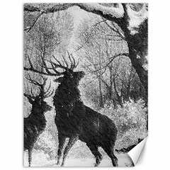 Stag Deer Forest Winter Christmas Canvas 36  X 48
