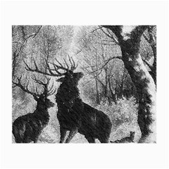 Stag Deer Forest Winter Christmas Small Glasses Cloth (2 Side)
