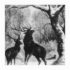 Stag Deer Forest Winter Christmas Medium Glasses Cloth