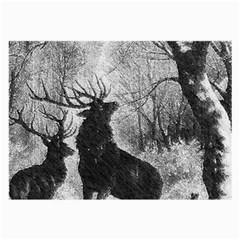 Stag Deer Forest Winter Christmas Large Glasses Cloth (2-Side)