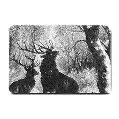 Stag Deer Forest Winter Christmas Small Doormat