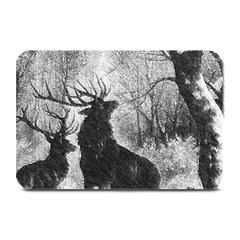 Stag Deer Forest Winter Christmas Plate Mats