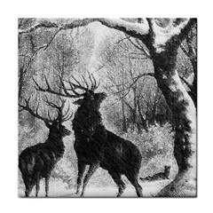 Stag Deer Forest Winter Christmas Face Towel