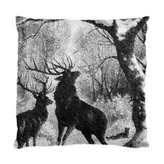 Stag Deer Forest Winter Christmas Standard Cushion Case (One Side)