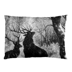 Stag Deer Forest Winter Christmas Pillow Case