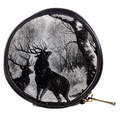 Stag Deer Forest Winter Christmas Mini Makeup Bags