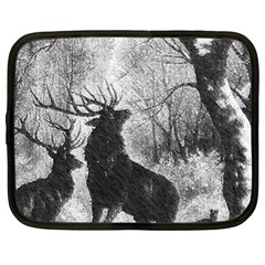 Stag Deer Forest Winter Christmas Netbook Case (XL)