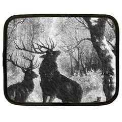 Stag Deer Forest Winter Christmas Netbook Case (xxl)