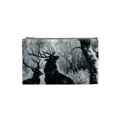Stag Deer Forest Winter Christmas Cosmetic Bag (Small)