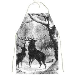 Stag Deer Forest Winter Christmas Full Print Aprons