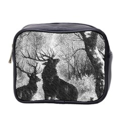 Stag Deer Forest Winter Christmas Mini Toiletries Bag 2-Side