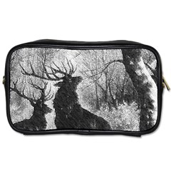Stag Deer Forest Winter Christmas Toiletries Bags 2 Side