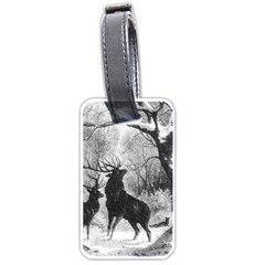 Stag Deer Forest Winter Christmas Luggage Tags (one Side)