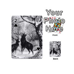 Stag Deer Forest Winter Christmas Playing Cards 54 (mini)