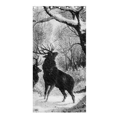 Stag Deer Forest Winter Christmas Shower Curtain 36  x 72  (Stall)