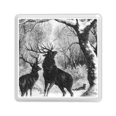 Stag Deer Forest Winter Christmas Memory Card Reader (square)