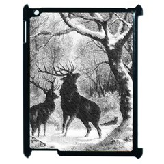 Stag Deer Forest Winter Christmas Apple iPad 2 Case (Black)