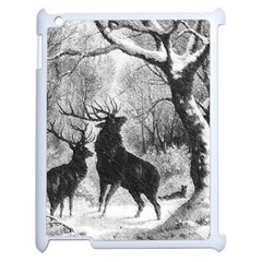 Stag Deer Forest Winter Christmas Apple Ipad 2 Case (white)