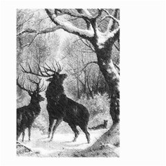 Stag Deer Forest Winter Christmas Small Garden Flag (two Sides)