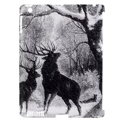 Stag Deer Forest Winter Christmas Apple Ipad 3/4 Hardshell Case (compatible With Smart Cover)