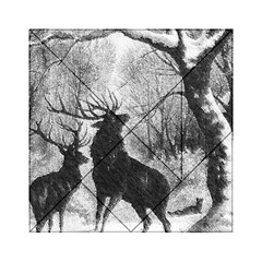Stag Deer Forest Winter Christmas Acrylic Tangram Puzzle (6  x 6 )
