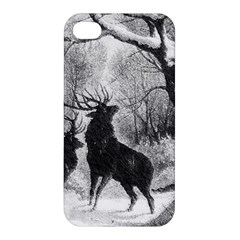 Stag Deer Forest Winter Christmas Apple Iphone 4/4s Premium Hardshell Case