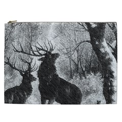 Stag Deer Forest Winter Christmas Cosmetic Bag (xxl)