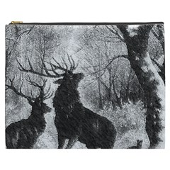 Stag Deer Forest Winter Christmas Cosmetic Bag (xxxl)