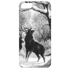 Stag Deer Forest Winter Christmas Apple iPhone 5 Classic Hardshell Case