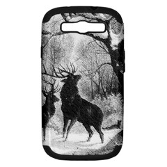 Stag Deer Forest Winter Christmas Samsung Galaxy S III Hardshell Case (PC+Silicone)