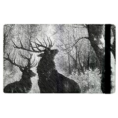 Stag Deer Forest Winter Christmas Apple Ipad 2 Flip Case