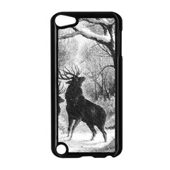 Stag Deer Forest Winter Christmas Apple Ipod Touch 5 Case (black)
