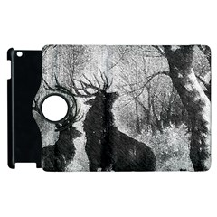 Stag Deer Forest Winter Christmas Apple iPad 2 Flip 360 Case