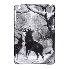 Stag Deer Forest Winter Christmas Apple Ipad Mini Hardshell Case (compatible With Smart Cover)