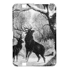 Stag Deer Forest Winter Christmas Kindle Fire HD 8.9