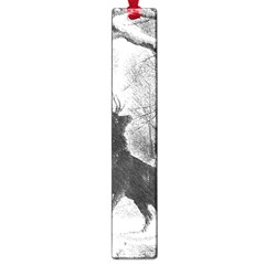Stag Deer Forest Winter Christmas Large Book Marks