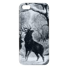 Stag Deer Forest Winter Christmas Apple Iphone 5 Premium Hardshell Case