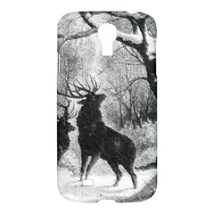 Stag Deer Forest Winter Christmas Samsung Galaxy S4 I9500/i9505 Hardshell Case