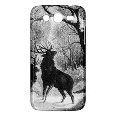 Stag Deer Forest Winter Christmas Samsung Galaxy Mega 5.8 I9152 Hardshell Case