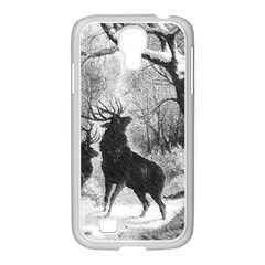 Stag Deer Forest Winter Christmas Samsung Galaxy S4 I9500/ I9505 Case (white)