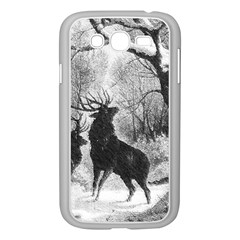 Stag Deer Forest Winter Christmas Samsung Galaxy Grand DUOS I9082 Case (White)