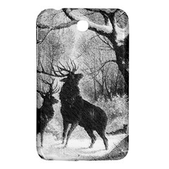 Stag Deer Forest Winter Christmas Samsung Galaxy Tab 3 (7 ) P3200 Hardshell Case
