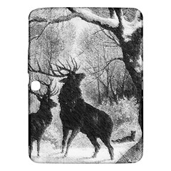 Stag Deer Forest Winter Christmas Samsung Galaxy Tab 3 (10 1 ) P5200 Hardshell Case