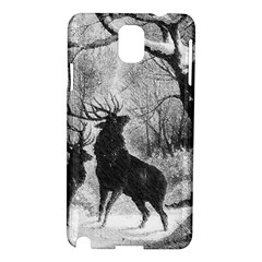 Stag Deer Forest Winter Christmas Samsung Galaxy Note 3 N9005 Hardshell Case